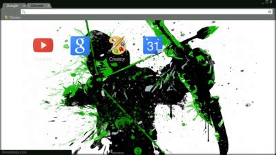 theme google chrome arrow green arrow chrome themes themebeta