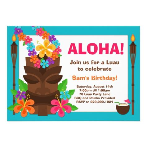 luau invitation template tropical luau invitation 5 quot x 7 quot invitation card