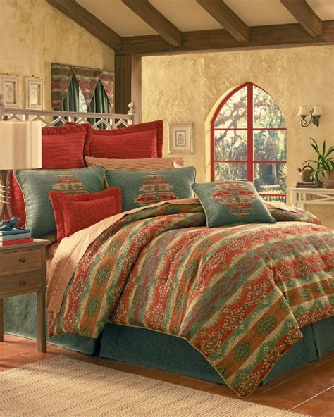 southwest bedding 7pc thomasville picanta red teal orange southwestern