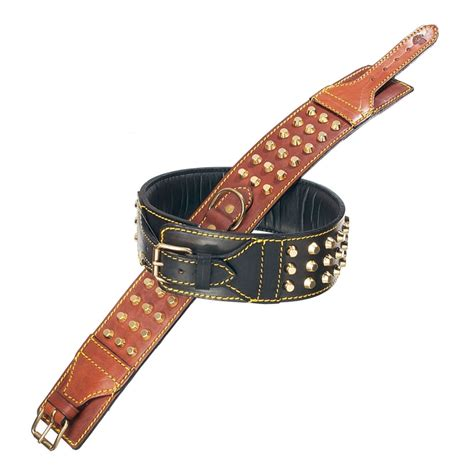 studded leather collars studded padded leather collar big boutique at glamourmutt