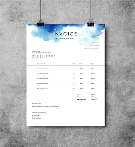 6 ms word invoice template authorizationletters org