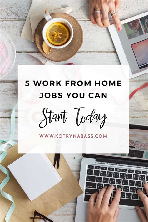 5 work from home you can start today successful