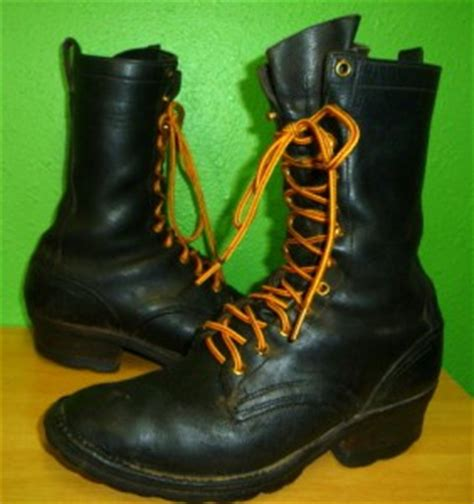 Handmade Leather Work Boots - nick s contender handmade leather logger packer
