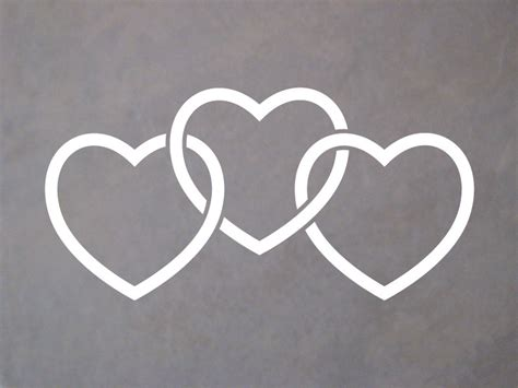 infinity tattoo with three hearts shop sdsticker com 6 quot interlocking heart trio decal