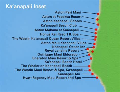 kaanapali resort map kaanapali activities on sailing diving
