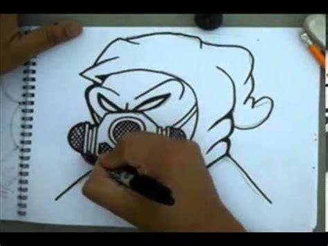 como dibujar  personaje de graffiti  una mascara de