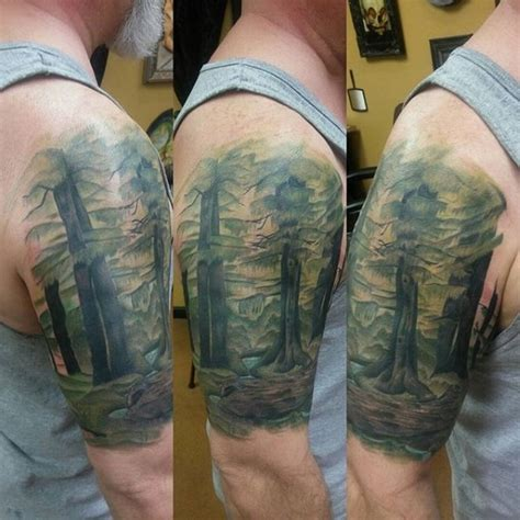 75 tree sleeve tattoo designs for men ink ideas with