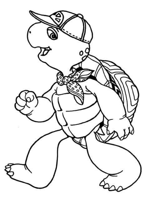 franklin the turtle free coloring pages