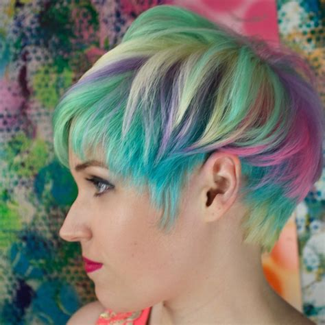 colorful short haircut top 10 sand art hair color looks hair colors ideas