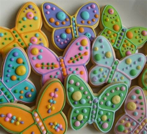large butterfly decorated cookie favors butterfly