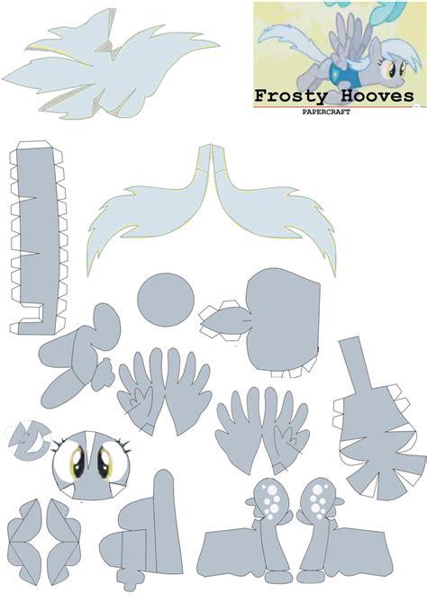 Papercraft Patterns - frosty hooves papercraft pattern by rainyhooves on deviantart