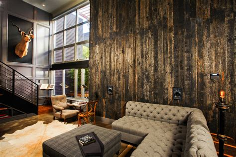 Modern Industrial Living Room by Flow Modern Interior Design Industrial Living Room Los Angeles By Central Meridian