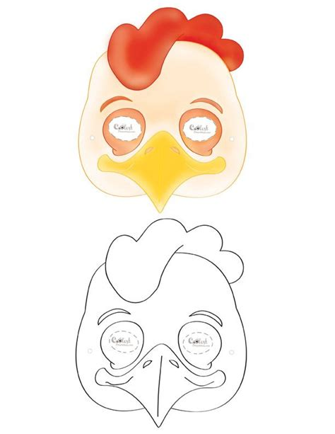 printable rooster mask printable chicken mask coolest free printables school