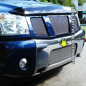 how it works cars 2007 nissan armada spare parts catalogs for nissan 2004 2007 armada 04 2014 titan 1pc bumper billet grille replacement ebay