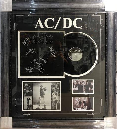 ac dc album by album books acdc signed framed quot back in black quot album