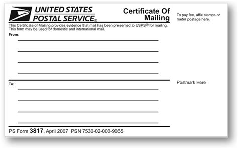 Printable Certified Mail Forms