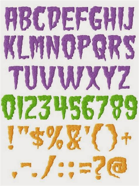 font design horror collection free unique font machine embroidery designs to