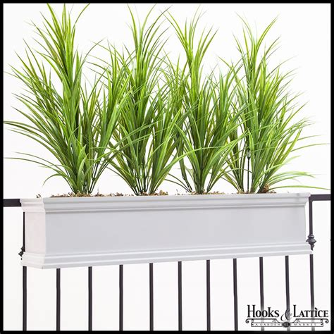 Balcony Planter Boxes For Railings by Railing Planters Deck Flower Boxes Outdoor Fence Rail