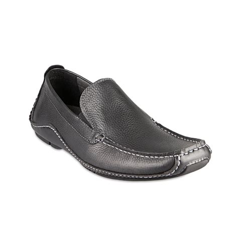 Steve Madden Loafers For by Steve Madden Rocckit Loafers In Black For Black Leather Lyst