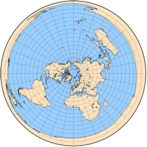 flat earth equidistant map projection map projections azimuthal projections