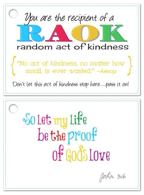 Random Acts Of Kindness Cards Templates by Random Acts Of Kindness Card Random Acts Of Kindness