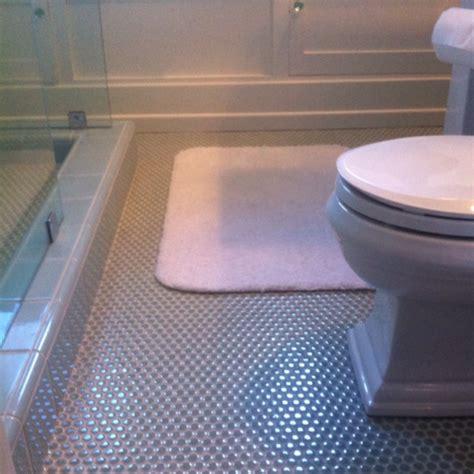penny floor bathroom bathroom floor tiled with penny tiles bathroom laundry