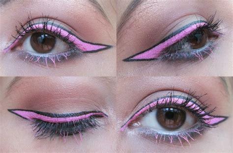 step  step makeup tutorial baby pink cartoon eye liner