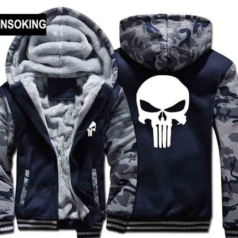 Sweater Hoodie The Puniser Best Clothing winter warm the punisher hoodies casual skull hooded coat