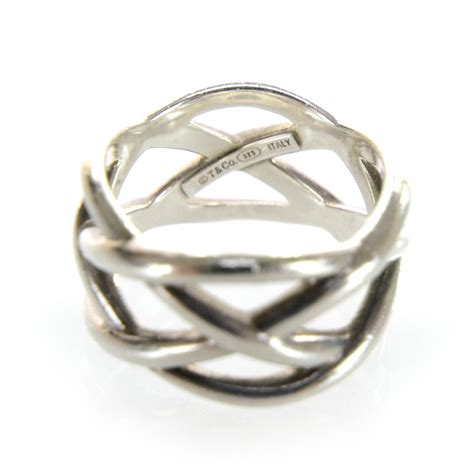 co sterling silver weave ring 6 5 28640