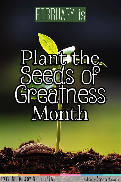 Plant the Seeds of Greatness Month   HolidaySmart