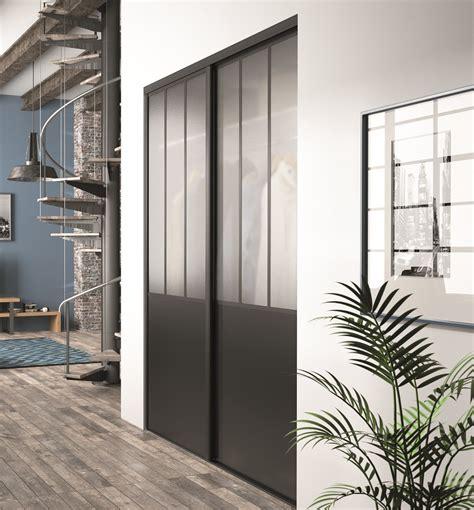 portes coulissantes verre porte de placard style atelier yj75 jornalagora