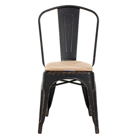 Gustave Metal Dining Chair Vintage Black Tables Steel Dining Chair