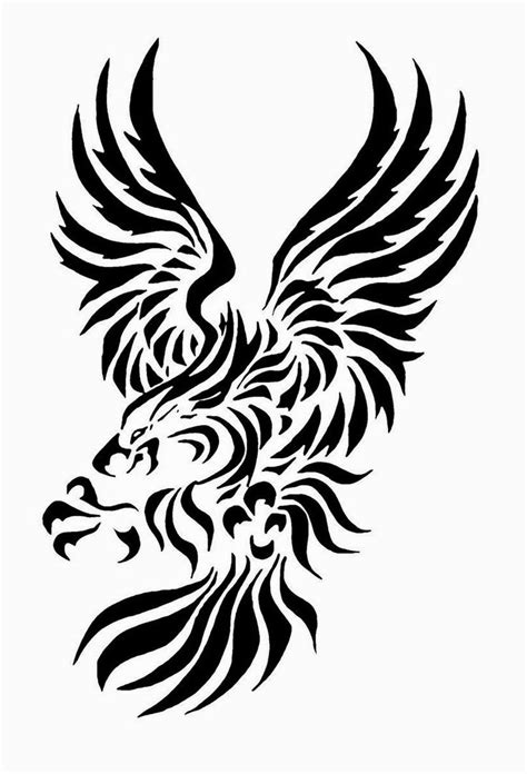 tribal eagle tattoo meaning the 25 best tribal eagle ideas on