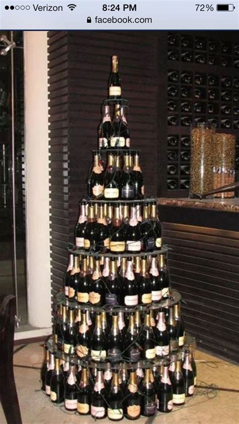 wine rack christmas tree display pinterest
