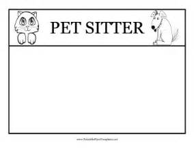 sitting template pet sitting flyers