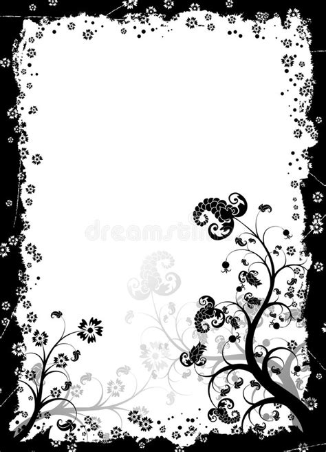 grunge page with floral border stock illustration illustration of fashioned aged 2582659 grunge floral frame vector stock vector illustration of flower berry 1807063