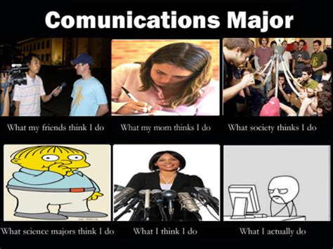 Communication Major Meme - communications major on tumblr