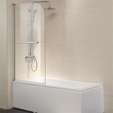 Frameless Shower Door Glass Thickness Pivot Radius Frameless 55 Quot X31 Quot Bath Shower Door 1 4 Quot Clear Glass Chrome Finish Ebay