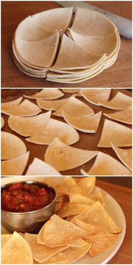 Homemade Tortilla Chips Guacamole And Tortilla Chips Healthy