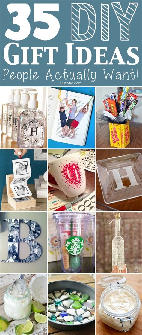 Simple Handmade Gift Ideas - 35 easy diy gift ideas actually want for