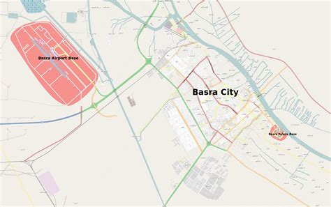 where is basra on a map siege of uk bases in basra