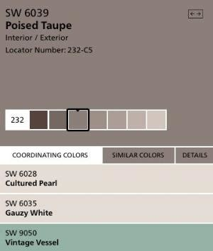 found the paint color poised taupe by sherwin williams found the paint color poised taupe by sherwin williams