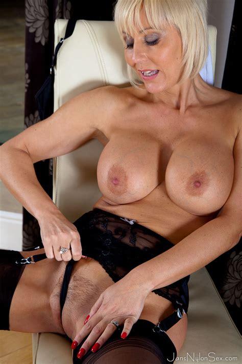 Jan Burton hot british Milf In Stockings And Pantyhose sex Lingerie Moms