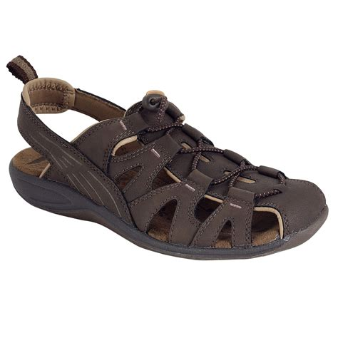 kmart sandals for womens athletech s darla bungee fisherman sandal brown