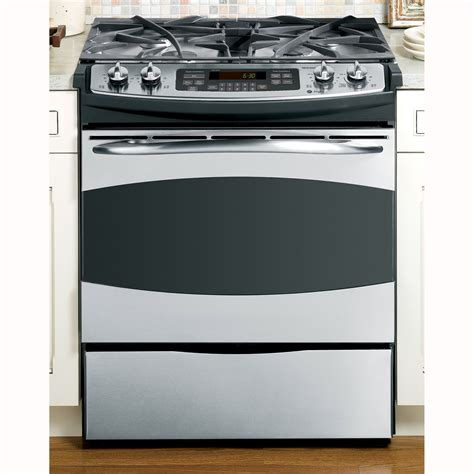 ge profile gas range ge profile pgs908sepss profile series 30 quot slide in gas range sears outlet