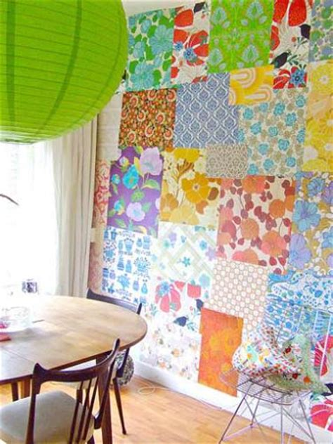Patchwork Wall - modern wall decor in patchwork fabric style wall design