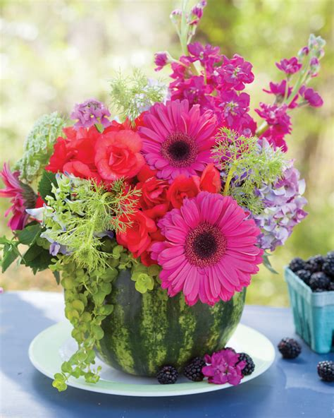 create summer floral arrangements in fruit floral