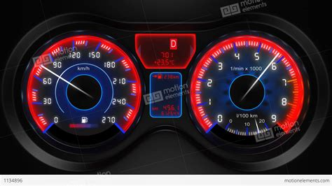 auto dash car dashboard animation stock animation 1134896