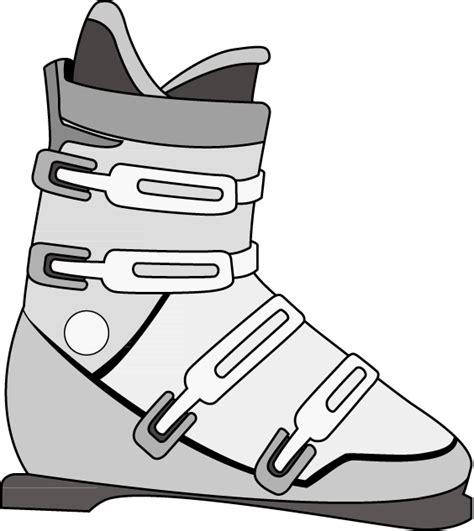 ski boat drawing ski boot clipart