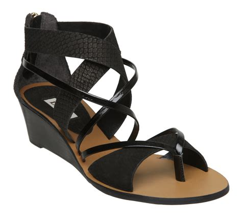 gladiator low wedge sandals new dune gogo d womens gladiator low wedge heel